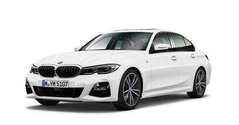 Ein Bild von einem der Limousine BMW 320i vor einem weißen Hintergrund.